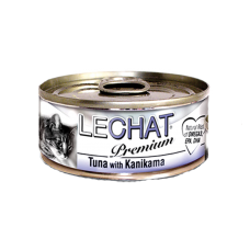 LeChat Premium Tuna with Kanikama 80g Carton (24 Cans)