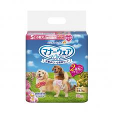 Unicharm Absorbent Pet Diaper Female Small (36pcs) 25cm-40cm Waist For Dogs