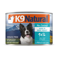 K9 Natural New Zealand Grass-Fed Hoki & Beef Feast Dog Canned Food 170g (6 Cans)