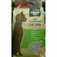 Nature's Eco Recycled Paper Cat Litter 30L