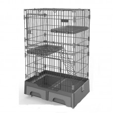 Deluxe Pet Cage Black For Cats