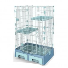 Deluxe Pet Cage Blue For Cats