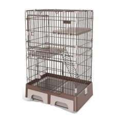 Deluxe Pet Cage Brown For Cats