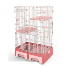 Deluxe Pet Cage Pink For Cats
