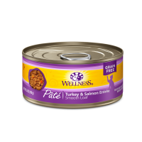 Wellness Grain Free Pate Turkey & Salmon Cat Canned Food 156g Carton (12 Cans)
