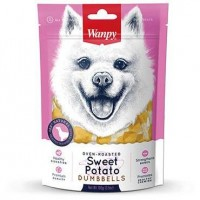 Wanpy Soft Oven Roasted Sweet Potato Dumbells Dog Treat 100g