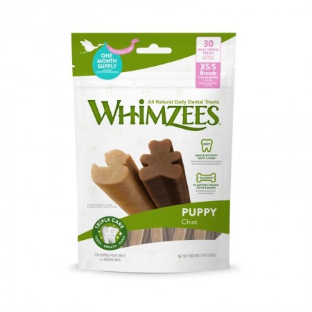 Whimzees Puppy Chiot Dental Chews XS/S 240g   (Buy 2, Free 1)