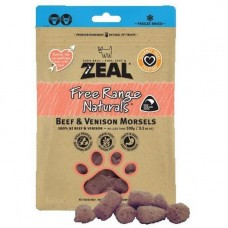 Zeal Free Range Naturals Beef & Venison Morsels Dogs & Cats Treats 100g (3 Packs)