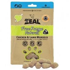 Zeal Free Range Naturals Chicken & Lamb Morsels Dogs & Cats Treats 100g (3 Packs)