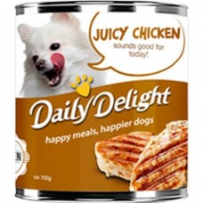 Daily Delight Energy Lift Juicy Chicken Dog Wet Food 700g (12cans)