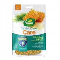 Happi Doggy Dental Chew Care Skin & Coat Support Fennel Grass & Honey Dogs Treats (2.5Inch) 150g