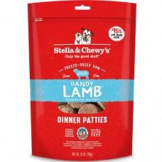 Stella & Chewy's Grain Free Dandy Lamb Dinner Patties Freeze-Dried Dog Food 25oz (4 Packs)