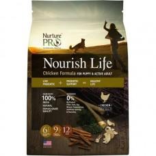 Nurture Pro Nourish Life Chicken Formula for Puppy & Active Adult Dog Dry Food 12.5lb + Free 4lb