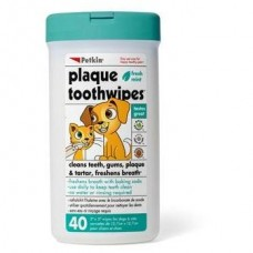 Petkin Plaque Toothwipes 40's