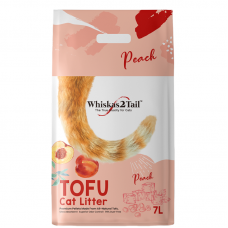 Whiskers2Tail Tofu Cat Litter Peach 7L (3 Packs)