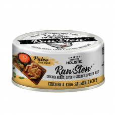 Absolute Holistic Raw Stew with Chicken Organs Deboned Chicken & King Salmon Recipe Canned Food 80g Carton (24 Cans)