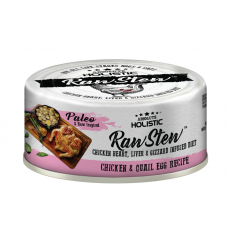 Absolute Holistic Raw Stew with Chicken Organs Deboned Chicken & Quail Egg Recipe Canned Food 80g