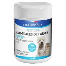 Francodex Tear Stain Removal Wipes for Dogs & Cats 50's