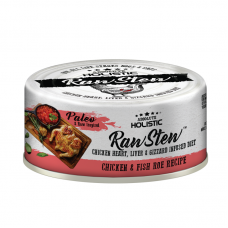 Absolute Holistic Raw Stew with Chicken Organs Deboned Chicken & Fish Roe Recipe Canned Food 80g