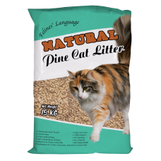 Felines Language Natural Pine Cat Litter 15kg
