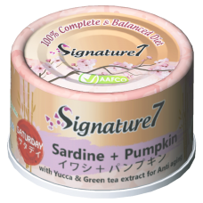 Signature7 Sardine with Pumpkin (Saturday) Cat Canned Food 70g (24 Cans)