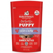 Stella & Chewy's Grain Free Perfectly Puppy Chicken & Salmon Patties Freeze-Dried Dog Food 14oz (3 Packs)
