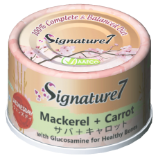 Signature7 Mackerel with Carrot (Wednesday) Cat Canned Food 70g (24 Cans)