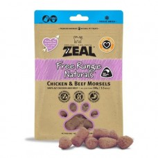Zeal Free Range Naturals Chicken & Beef Morsels Dogs & Cats Treats 100g (3 Packs)