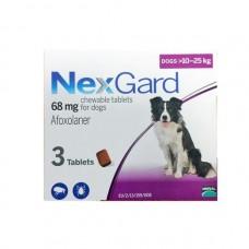 Nexgard Afoxolaner Chewable Tablets for Large Dogs 10kg-25kg 3 tablets