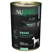 Nutripe Pure Grain Free Unagi & Green Tripe Dog Wet Food 390g