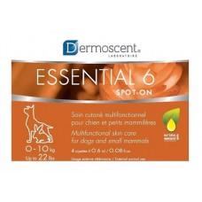 Dermoscent Essential 6 Spot-On Skin Care Dogs (0-10kg) (4 Tubes)