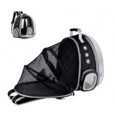 Rubeku Expandable Pet Space Capsule Backpack Black