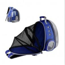 Rubeku Expandable Pet Space Capsule Backpack Blue