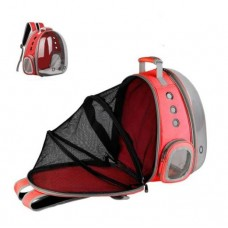 Rubeku Expandable Pet Space Capsule Backpack Red