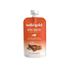 Solid Gold Turkey Bone Broth with Pumpkin & Ginger for Dogs 226g