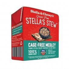 Stella & Chewy's Dog Stella's Stew Cage-Free Medley Chicken, Turkey & Duck Recipe Dog Food 11oz