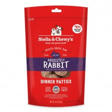 Stella & Chewy's Dog Dinner Patties Freeze-Dried  - Absolutely Rabbit 14 oz
