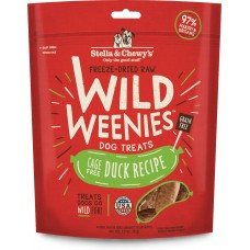 Stella & Chewy's Wild Weenies Freeze-Dried Raw Duck Dog Treats 3.25oz