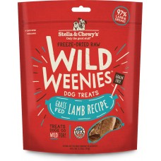 Stella & Chewy's Wild Weenies Freeze-Dried Raw Lamb Dog Treats 3.25oz (2 Packs)