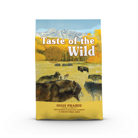 Taste of the Wild High Prairie Canine Recipe with Roasted Bison & Roasted Venison Dog Dry Food 2kg