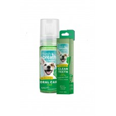 Bundle Deal For TropiClean Fresh Breath Mint Foam + Fresh Breath Clean Teeth Gel