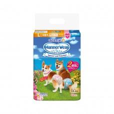 Unicharm Absorbent Pet Diaper Female Large (32pcs) 40cm-55cm Waist For Dogs
