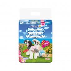 Unicharm Absorbent Pet Diaper Female Medium (34pcs) 35cm-45cm Waist For Dogs