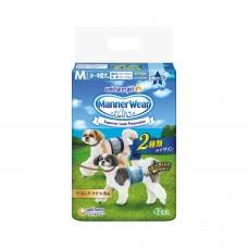Unicharm Absorbent Pet Diaper Male Medium (42pcs) 40-45cm Waist For Dogs