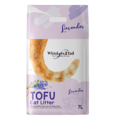 Whiskers2Tail Tofu Cat Litter Lavender 7L