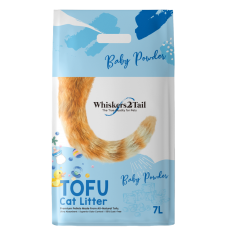Whiskers2Tail Tofu Cat Litter Baby Powder 7L
