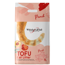 Whiskers2Tail Tofu Cat Litter Peach 7L