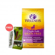 Wellness Complete Health Grain Free Small Breed Deboned Turkey, Chicken Meal & Salmon Meal Dog Dry Food 11Lb