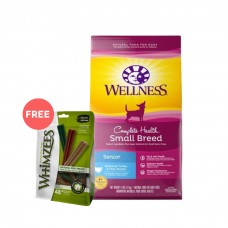 Wellness Complete Health Small Breed Senior Deboned Turkey & Peas Dog Dry Food 4Lb
