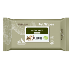 Whiskers2Tail Pet Wipes 100's Aloe Vera